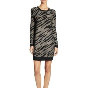 French Connection Zebra Sweater Dress